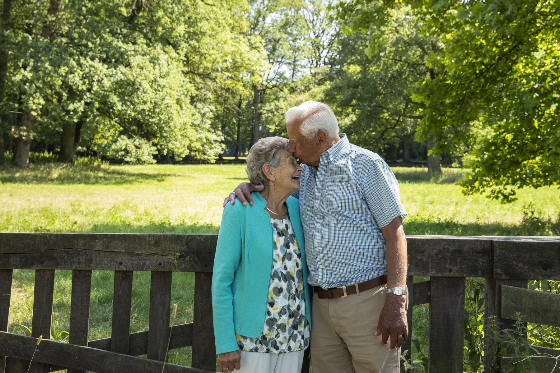 Op de foto voor opa en oma